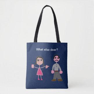 Tote bag navy custom marriage
