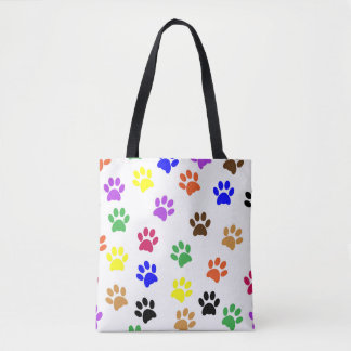 Tote Bag Paw Prints