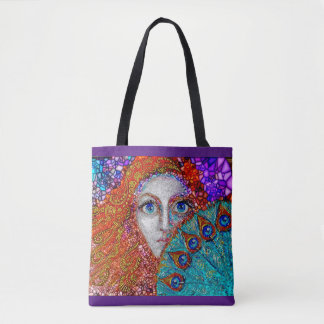 "Tote Bag ""Peacock Fan"""