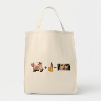 Tote Bag  / Pig + Lip Stick = Sara Palin
