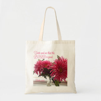 Tote / Bag Pink Daisies w/ Scripture