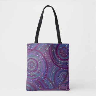 Tote Bag Purple Swirls