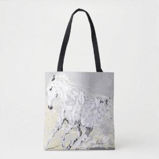 Tote Bag / White Stallion in Motion