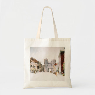 Tote bag with 'Canterbury Tower Gate' image