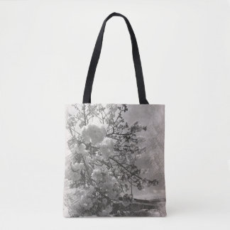 Tote bag with cherry blossoms.