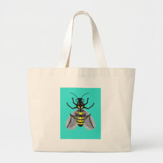 Tote Bag with Colorful Bee Art