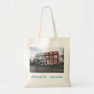 Tote Bag With Colourful Houses Picture (Reykjavik)