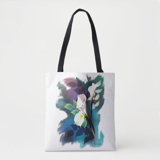 Tote Bag with Contemporary Floral Design