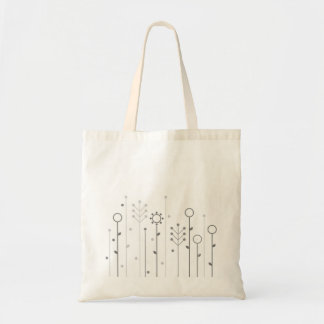 Tote bag with grass