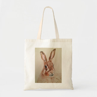 tote bag with hare image