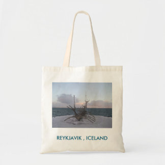 Tote Bag With Longboat Sculpture Picture (Iceland)