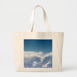 Tote bag with photo of snowy mountaintop