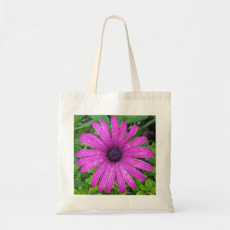 Tote Bag With Purple Flower After The Rain