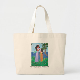 Tote bag with Tahitian Mom and Daughter