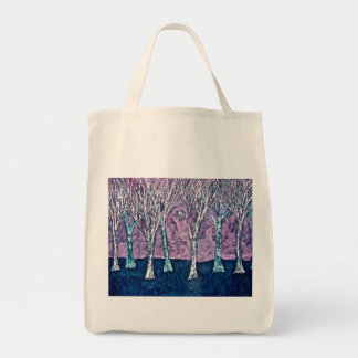 Tote Bag with Trees in Winter