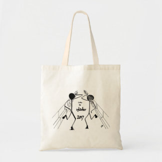 Tote bag with two Bring Me Sunshine dancers