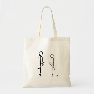 Tote bag with two Irish dancers