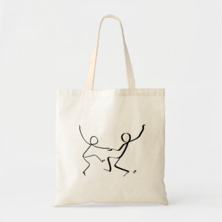 Tote bag with two Jitterbug dancers