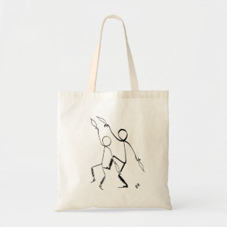 Tote bag with two Morris dancers