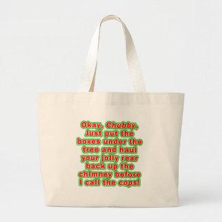 Tote Bags - Bad Chubby Santa