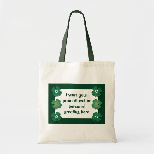 Tote bags customisable - shamrocks