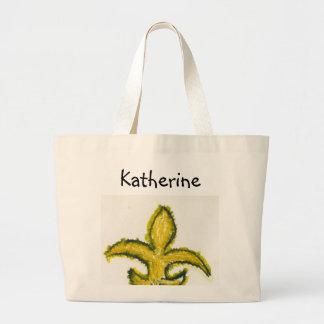 Tote de Lis: Personalize it! Black & Gold Bag