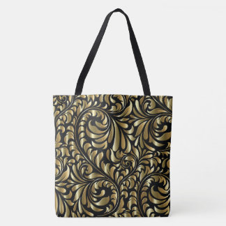 Tote - Drama in Black and Gold