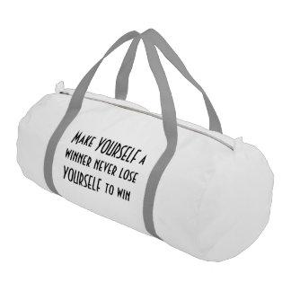 Tote/duffle bag; Make Yourself a winner Gym Duffel Bag