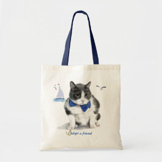 tote:  featuring Felix, the kitty, in the month of
