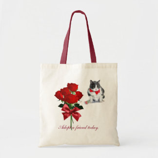 tote:  Felix, the cat, on Valentine's Day