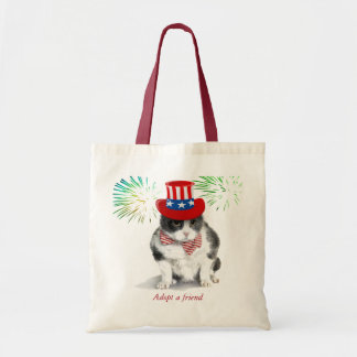 tote:  Felix, the kitty, in the month of July Tote Bag