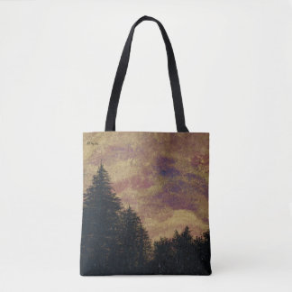 """Tote """"Golden Sunset Pines""""  by All Joy Art"""
