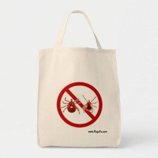 Tote, Lyme Disease Awareness (Choose Style, Color) Grocery Tote Bag