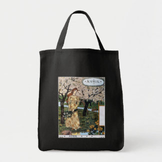Tote:  Month of April  - Avril Grocery Tote Bag