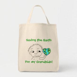 Tote - Saving the Earth Grocery Tote Bag