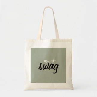 tote shopping bag in beige text organic swag