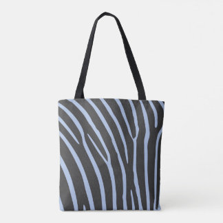 Tote stock market of stripes of zebra (blue and