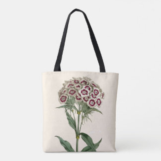 Tote, Sweet William Flower, Curtis Botanical Tote Bag