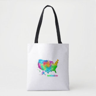 Tote Watecolor of the USA