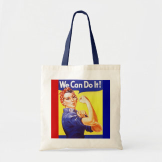 """Tote """"We Can Do It!"""" Slogan Rosie the Riveter Tote Bag"""