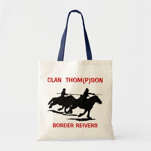 Tote with Clan Thom(p)son and Border Reivers Tote Bags
