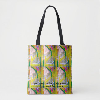 Tote with image of a collage