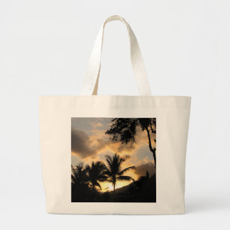 tote with palm tree