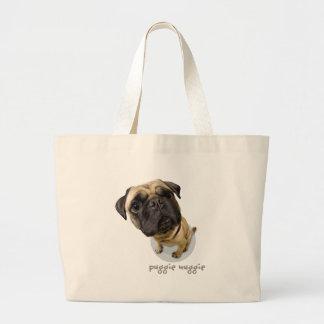 Tote Your Pug! Jumbo Tote Bag