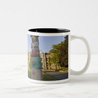 Totem pole at the Parliament building in Two-Tone Coffee Mug