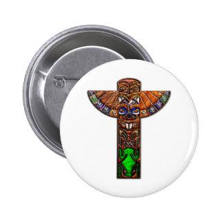 Totem Pole Spirit Creatures 6 Cm Round Badge