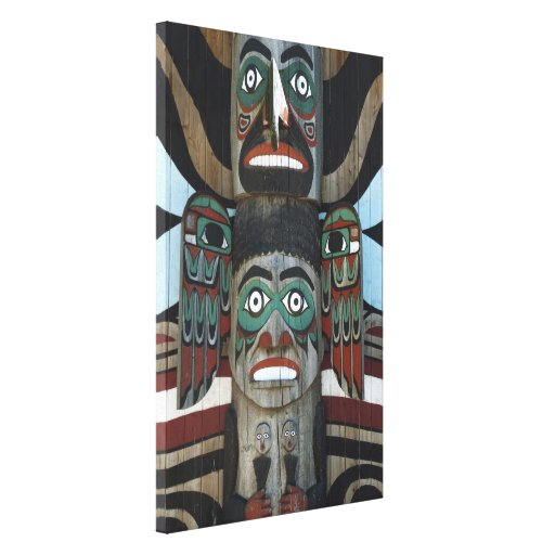 Totem Pole Wrapped Canvas Stretched Canvas Prints