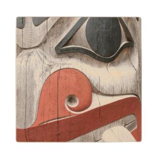 Totem poles at Haida Heritage Centre Museum Wood Coaster
