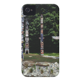 Totem poles, Vancouver, British Colombia iPhone 4 Covers