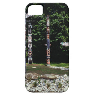 Totem poles, Vancouver, British Colombia iPhone 5 Covers